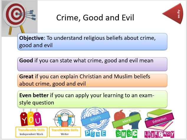 AQA: Religion, Crime and Punishment - Crime, Good and Evil - Whole Lesson