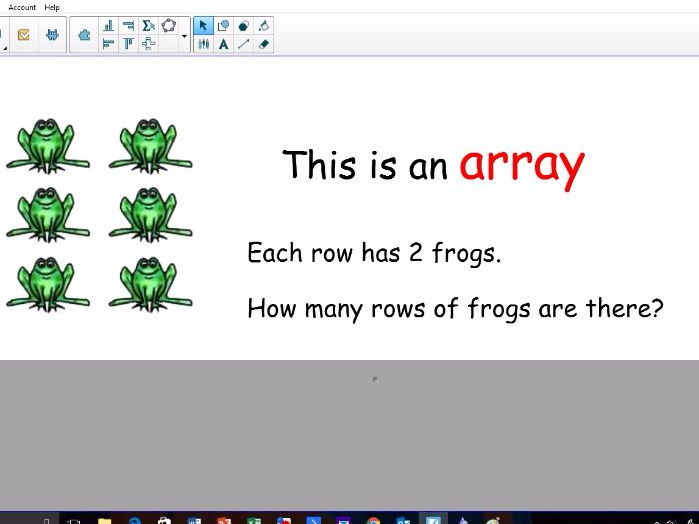 Using and creating arrays KS1 and lower KS2