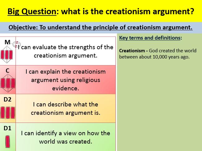 Creationism lesson
