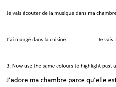 French ma maison my house introduction to past and future for KS3 or KS4