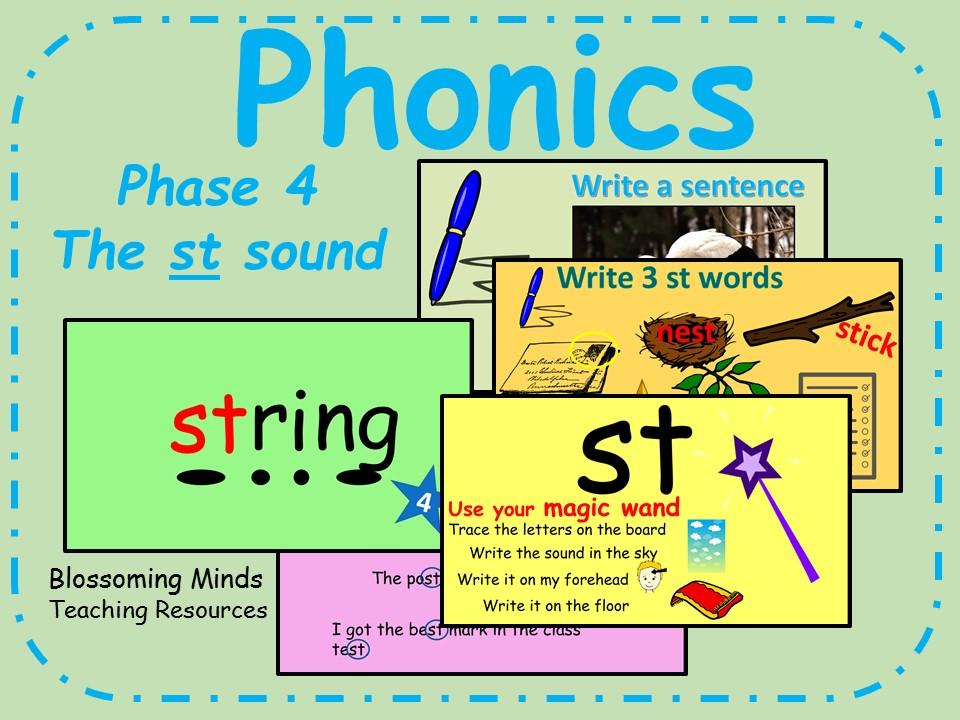 Phonics phase 4 - The 'st' sound - Consonant blends