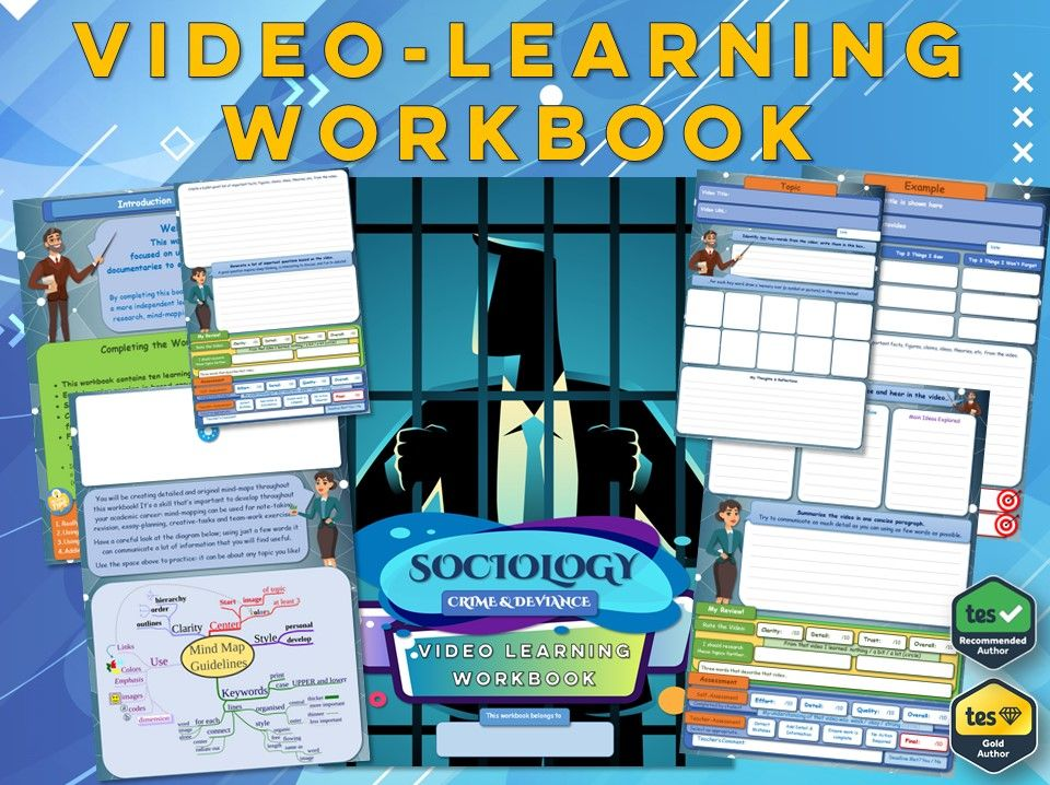 Crime & Deviance - GCSE Sociology Workbook [Video Learning Workbook]