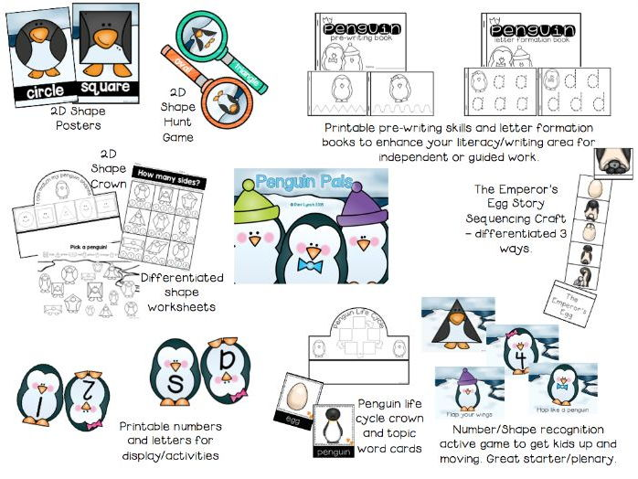 Penguin Pals Nursery/Reception Topic Pack