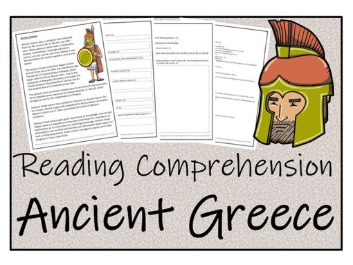 UKS2 History - Ancient Greece Reading Comprehension Activity
