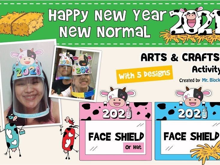 New Years 2021 Hats / Crowns / Face shield : Printable
