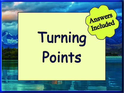 Turning Points - Worksheet with around 30 questions plus answers