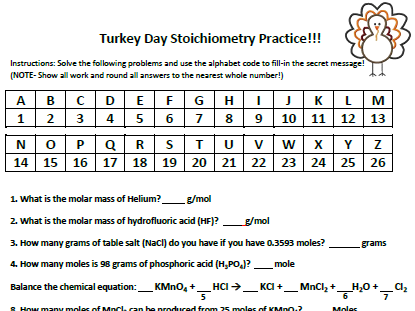 Worksheet Stoichiometry Practice Worksheet thanksgiving or easter stoichiometry practice worksheet by worksheet