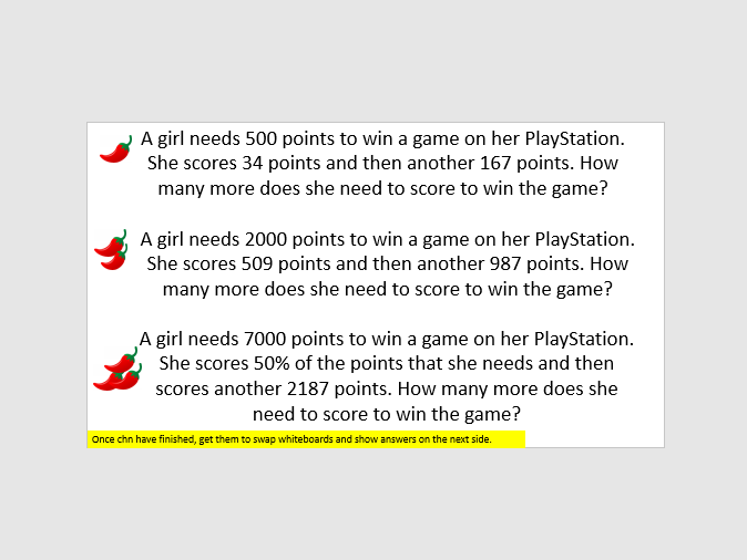 Word problems multistep year 6