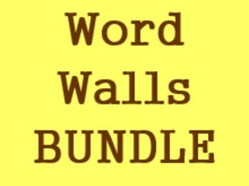 Word Walls in English Bundle