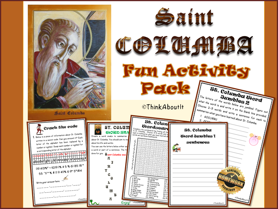 Christianity: St Columba Fun Activity Pack