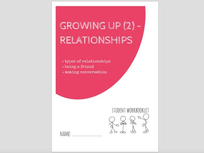 SPECIAL EDUCATION - GROWING UP (2) - RELATIONSHIPS workbooklet
