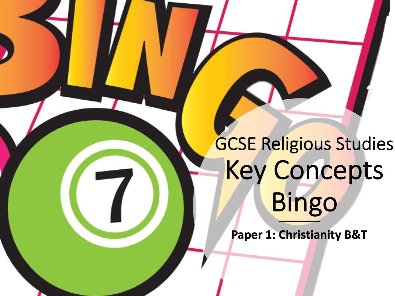 Key Concepts Bingo AQA GCSE Christianity