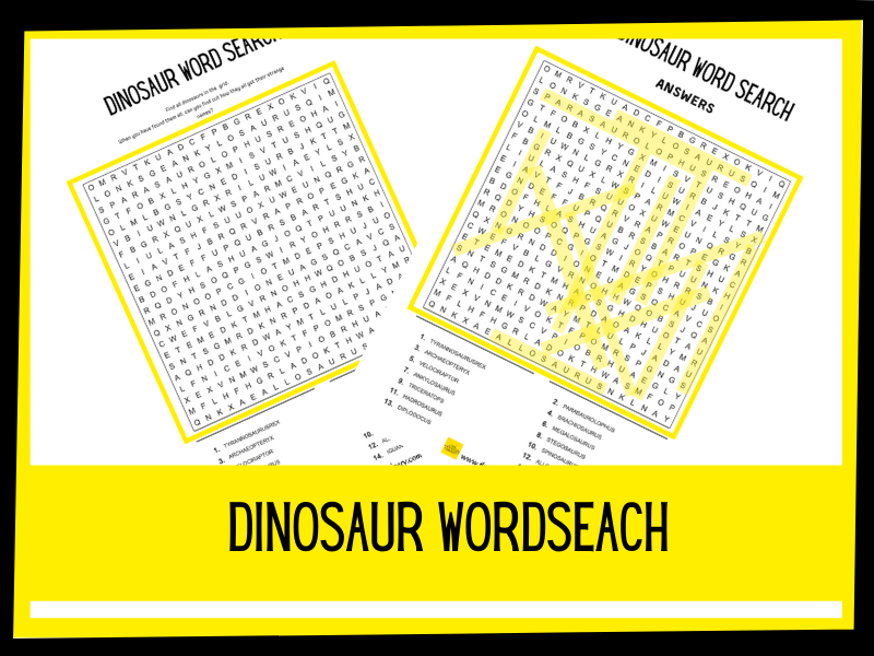 Dinosaur wordsearch