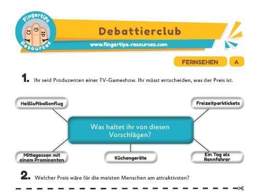 Fernsehen - Debates in German