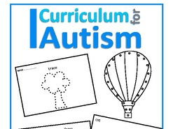 Autism, Fine Motor Skills Lace, Trace, Cut &  Draw,  Special Education, SEND, OT