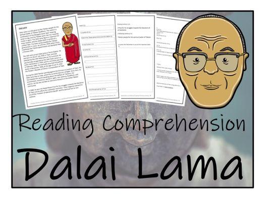 UKS2 Literacy - Dalai Lama Reading Comprehension Activity