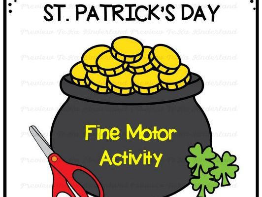 St Patrick's Day Cutting Practice | Fine Motor Skills
