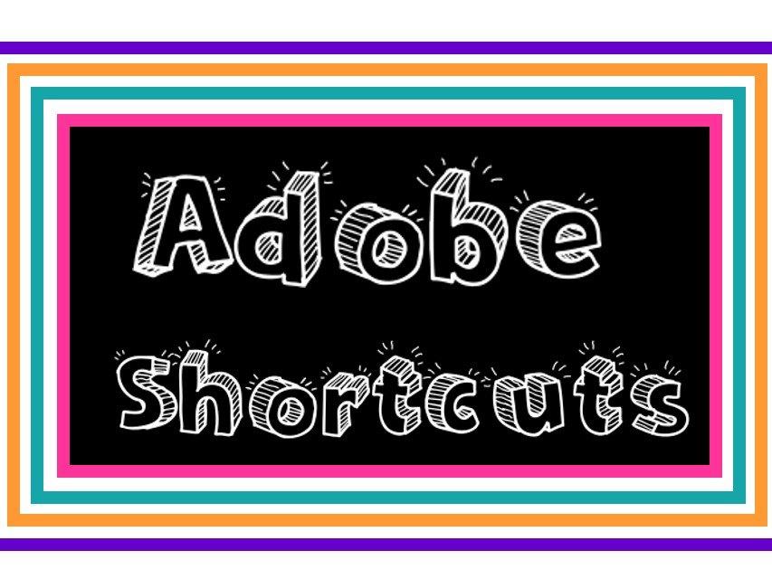 Adobe Keyboard Shortcuts Display