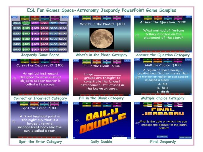 Space-Astronomy Jeopardy PowerPoint Game