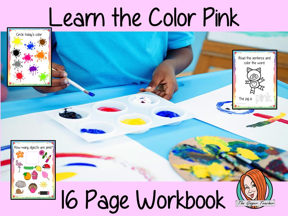 Color 'Pink' 16 Page Workbook