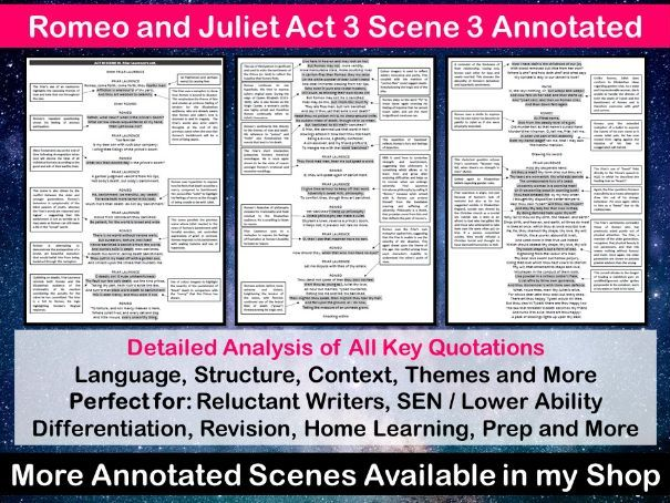 Romeo and Juliet Act 3 Scene 3 Annotated