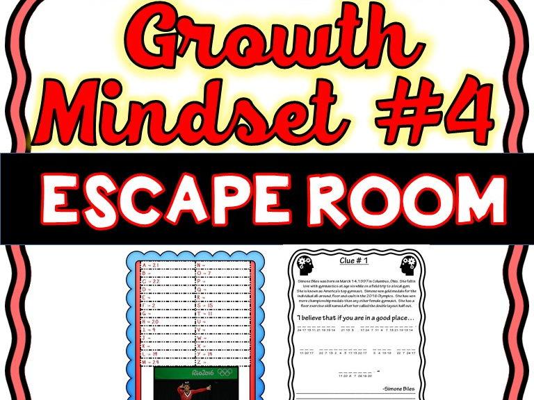 Growth Mindset Escape Room #4 - Athletes