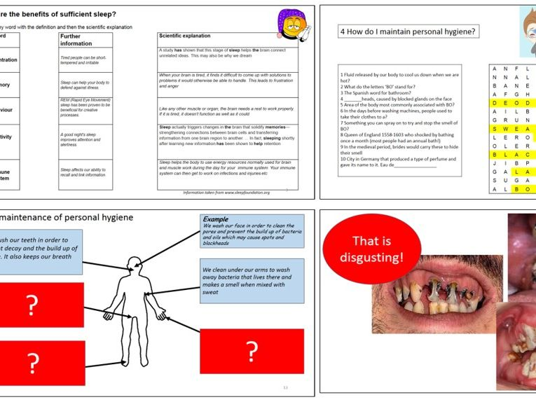 Mini unit of work on healthy lifestyles for KS3 RSE and Health Education