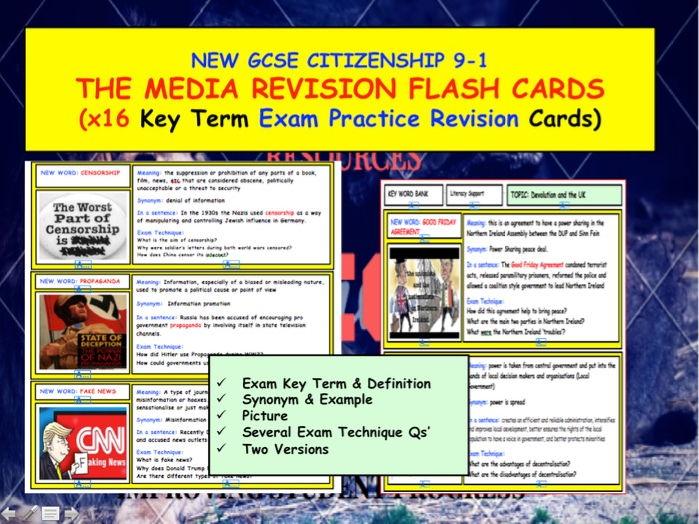 GCSE Citizenship. 9-1 Media Revision