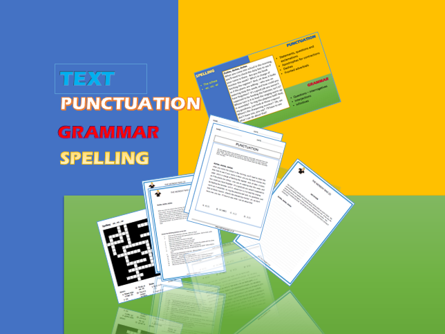 'Duties, Duties, Duties': Text based SPaG for KS2. Comprehension, grammar, spelling and punctuation.