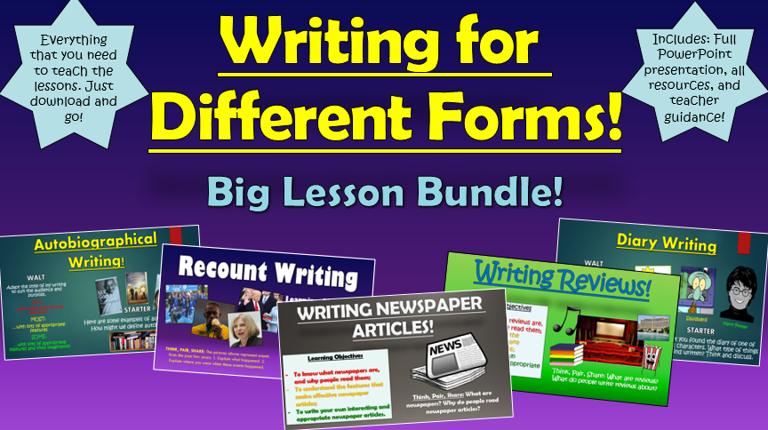 Writing for Different Forms Big Bundle!