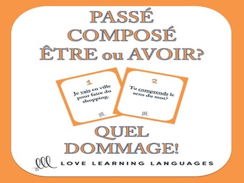 GCSE FRENCH: Être ou Avoir - Passé Composé - Quel Dommage Game