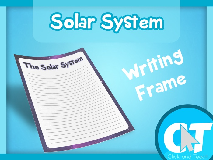 The Solar System - Writing Frame Page Border