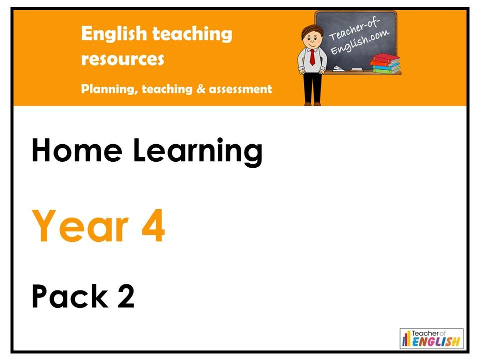 Year 4 English - Home Learning Pack 2