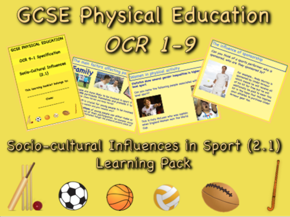 Socio-cultural Influences GCSE OCR PE (2.1) Complete Learning Pack
