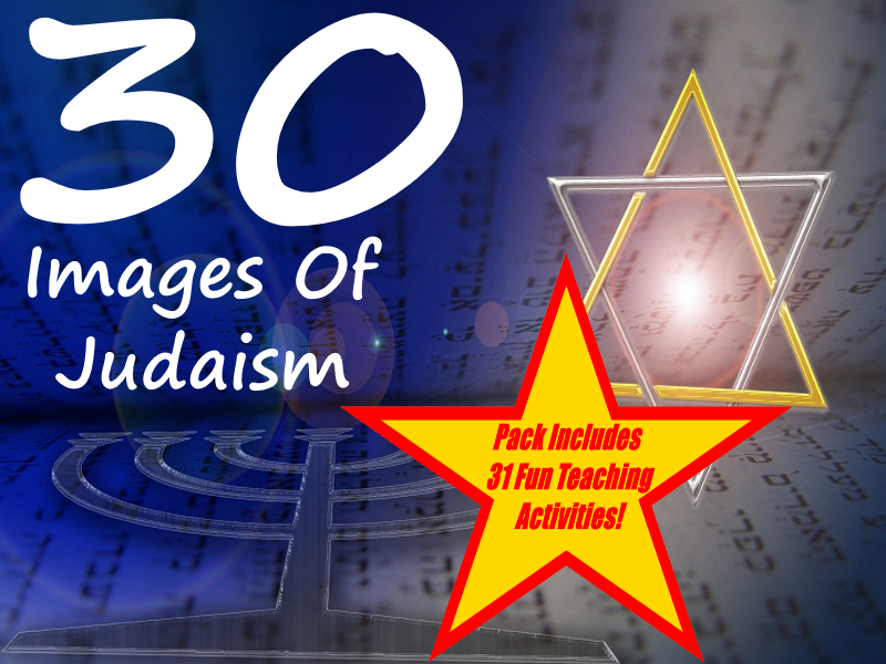 30 Images of Judaism PowerPoint Presentation + 31 Fun Teaching Activities For These Cards