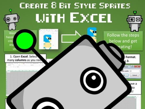 Computer Science Poster: Create 8 Bit Style Graphics with Excel!