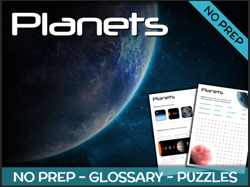 Planets - Puzzles & Glossary