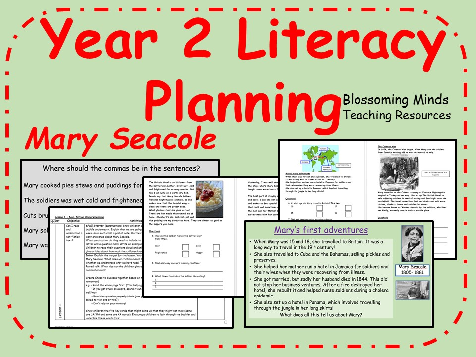 Year 2 Literacy 5 lesson plan - Mary Seacole