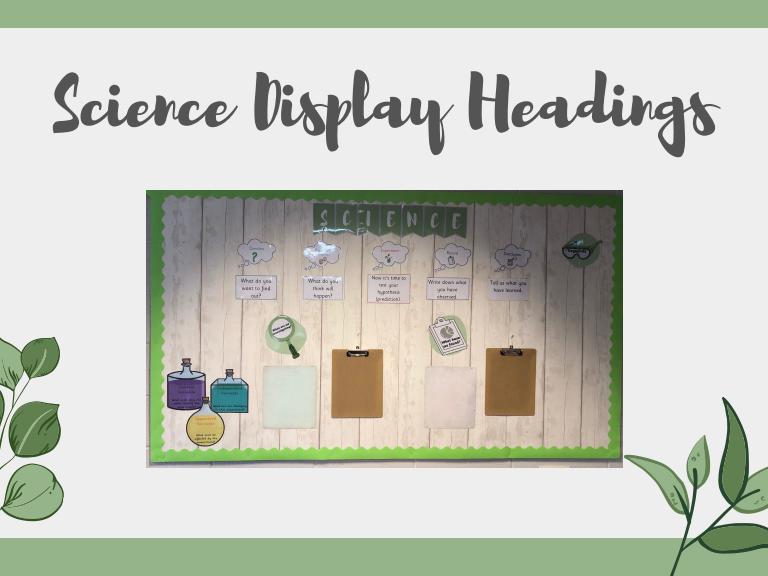 Science Display Headings
