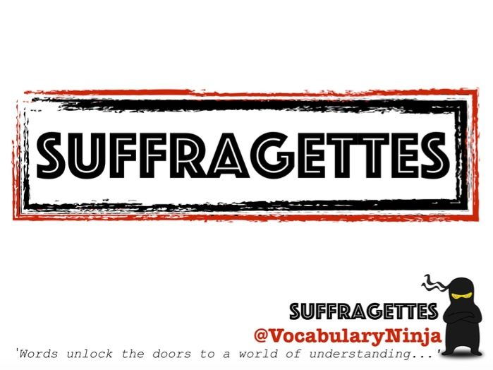Suffragettes Topic Vocabulary Pack
