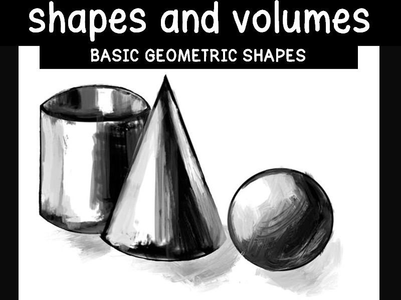 Draw basic geometric shapes and volumes