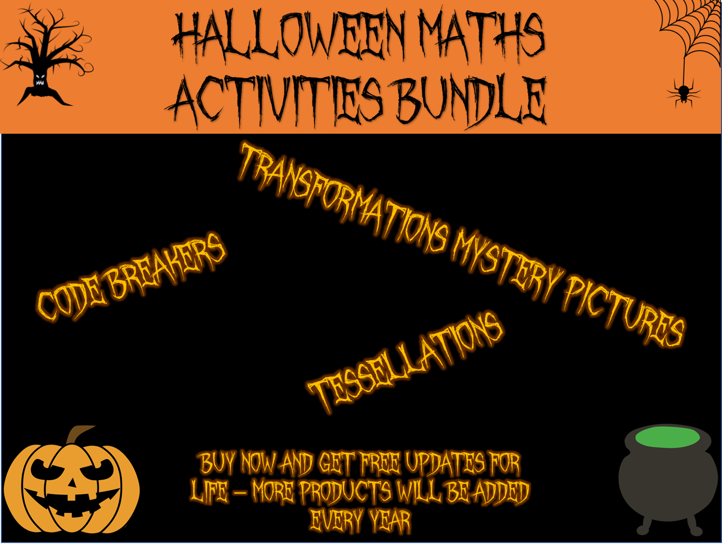 Halloween Maths - Halloween activities growing bundle