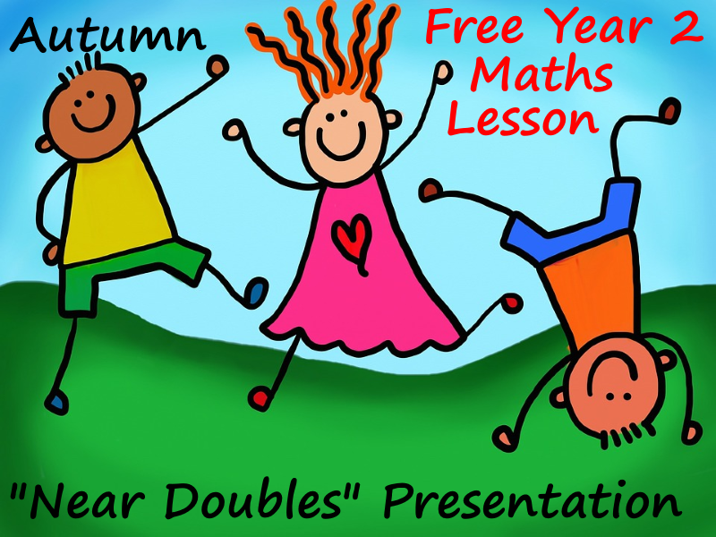 Free Year 2 Powerpoint Lesson Presentation Using Near Doubles