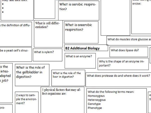AQA Trilogy Revision Paper 2 Biology Question Splat