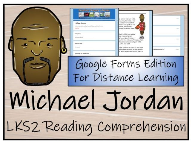 LKS2 Michael Jordan Reading Comprehension & Distance Learning Activity