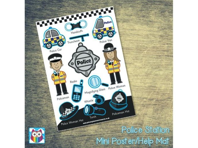 Police Station Mini Posters/Help Mat