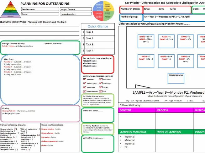 Outstanding Lesson Plan Template - Word Version