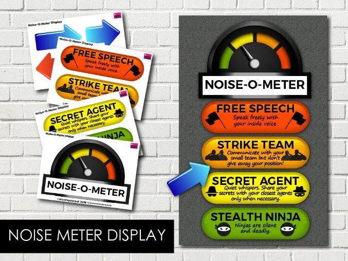 Noise Meter Display, Noise-O-Meter, Noise Monitor, Classroom Noise Monitor