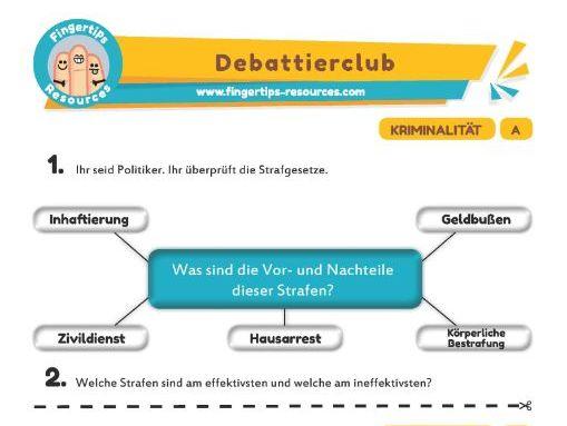 Kriminalität - Debates in German