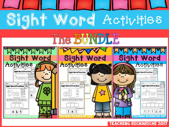 Dolch Sight Words Activities Distance Learning BUNDLE | Pre-K | Kindergarten | 1st Grade | Pre-Prime